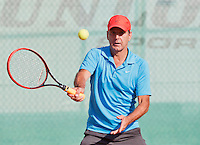 August 24, 2014, Netherlands, Amstelveen, De Kegel, National Veterans Championships, Jef Stevens (NED)<br /> Photo: Tennisimages/Henk Koster