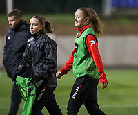 Martyna Rakowicz (38) of Woluwe pictured after the warm up before a female soccer game between FC Femina White Star Woluwe and Club Brugge YLA on the eleventh matchday of the 2020 - 2021 season of Belgian Scooore Womens Super League , Friday 22 January 2021  in Woluwe , Belgium . PHOTO SPORTPIX.BE   SPP   SEVIL OKTEM