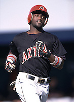 Tony Gwynn jr. of the San Diego State Aztecs during a 2002 season NCAA game against the Loyola Marymont University Lions at Page Stadium in Los Angeles, California. (Larry Goren/Four Seam Images)