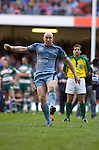 Cardiff Blues v Leicester Tigers - Heineken Cup Semi-Final at the Millennium Stadium in Cardiff..Cardiff's Tom Shanklin takes part in the penalty shoot out at the end of extra time..