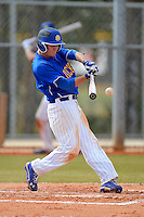 South Dakota State Jackrabbits third baseman Andrew Melton #2 during a game against the Ohio State Buckeyes at North Charlotte Regional Park on February 23, 2013 in Port Charlotte, Florida.  Ohio State defeated South Dakota State 5-2.  (Mike Janes/Four Seam Images)
