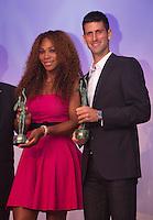 04-06-13, Tennis, France, Paris, Roland Garros,   ITF World Champions Dinner,Novak Djokovic and Serena Williams