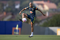 7th October 2020; Granja Comary, Teresopolis, Rio de Janeiro, Brazil; Qatar 2022 qualifiers; Fabinho of Brazil during training session