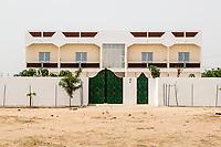 Senegal, Touba.  A Modern House in the Suburbs of Touba.