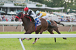 Teaks North, Eddie Castro up, wins the 58th running of the Grade I United Nations stakes at Monmouth Park.