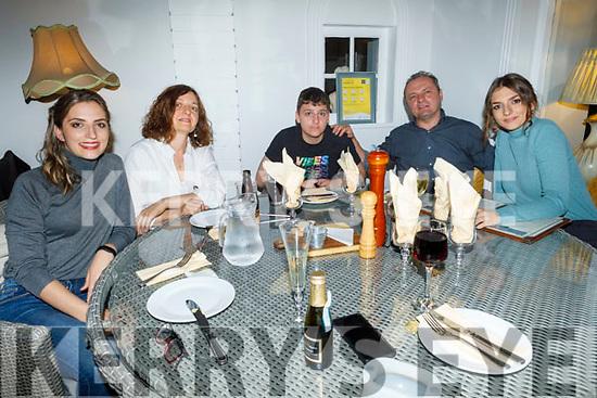 Dora, Alexandra, Andrej, Vojislav and Mata Bognovic enjoying the evening in Bella Bia on Saturday.