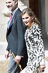 "Queen Letizia arrives to University of Alcala de Henares during award ceremony of literature in Spanish ""Miguel de Cervantes"" to in Madrid., April 20, 2017. Spain.<br /> (ALTERPHOTOS/BorjaB.Hojas)"