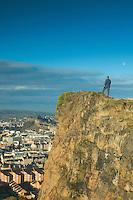 Edinburgh and Edinburgh Castle from Salisbury Crags, Edinburgh