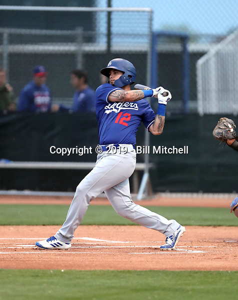 Jacob Amaya - Los Angeles Dodgers 2019 spring training (Bill Mitchell)