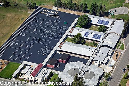 aerial photograph playground Petaluma, Sonoma county, California