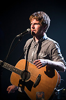 Vincent Valliere perform at <br /> the  Festival en Chanson of Petite-Vallee in Gaspesia on July 4, 2014. He was joined at the end by Robert Charlebois.<br /> <br /> Photo : Agence Quebec Presse  - Frederic Seguin