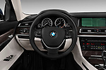 Steering wheel view of a 2013 BMW 7-Series 750i sedan