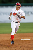 August 3, 2009:  Dillon Baird of the Orem Owlz, Rookie Class-A affiliate of the Los Angeles Angels of Anaheim, during a game at the Orem Owlz Ballpark in Orem, UT. Photo by: Matthew Sauk/Four Seam Images