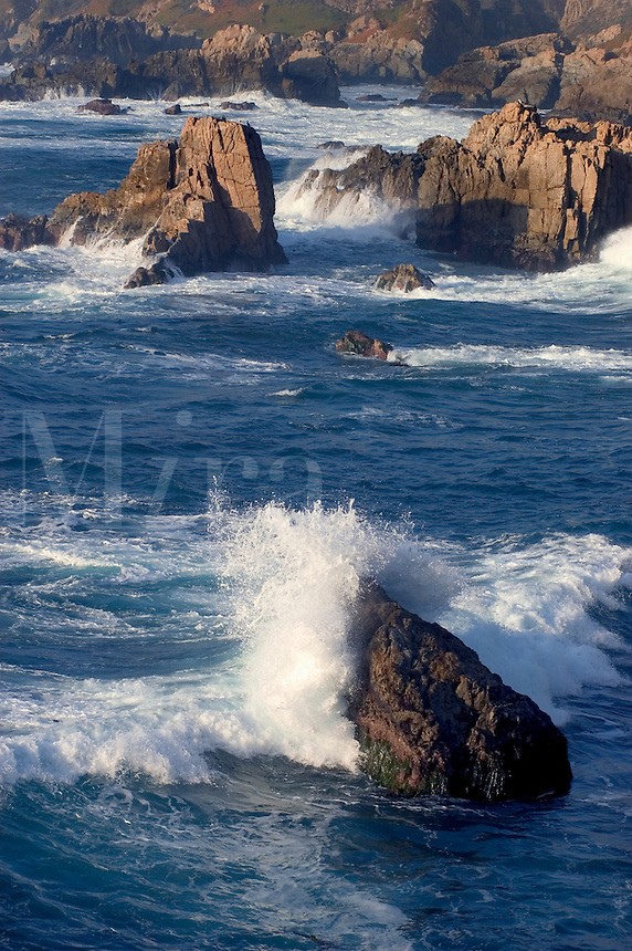 Waves crash through the rocks at GARAPATA STATE PARK - CALIFORNIA