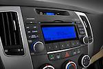Stereo audio system close up detail view of a 2010 Hyundai Sonata GLS