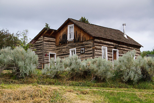 Pioneer Historic Museum, settler's cabin, Golden, Colorado,