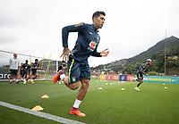 12th November 2020; Granja Comary, Teresopolis, Rio de Janeiro, Brazil; Qatar 2022 World Cup qualifiers; Roberto Firmino of Brazil during training session