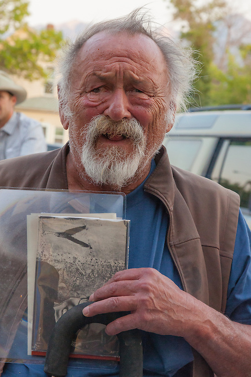 """Jim Harrison arrives at a benefit for the movie """"Winter in the Blood"""". Held at the Dulcie Theater in Livingston MT, sponsored by Elk River Books, the movie is based on the novel of the same name by James Welch."""