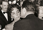 """Elizabeth Taylor and Michael Todd at the premiere of """"Around the World in 80 Days"""" February 1957."""