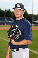 June 21st 2008:  Pitcher Brian Grening of the Mahoning Valley Scrappers, Class-A affiliate of the Cleveland Indians, during a game at Dwyer Stadium in Batavia, NY.  Photo by:  Mike Janes/Four Seam Images