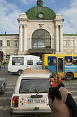 Main railway station in Ivano-Frankivsk was built in 1908, when the city was part of the Hapsburg Empire.