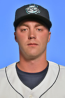 Asheville Tourists pitcher Trey Killian (21) poses for a photo at Story Point Media on April 5, 2016 in Asheville, North Carolina. (Tony Farlow/Four Seam Images)