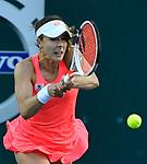 Alize Cornet (FRA) split sets with Caroline Garcia (FRA) 5-7, 6-1,