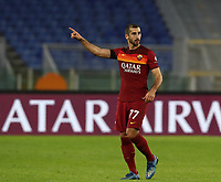 Football, Serie A: AS Roma - Parma, Olympic stadium, Rome, November 22, 2020. <br /> Roma's Henrikh Mkhitaryanl celebrates after winning 3-0 the Italian Serie A football match between Roma and Parma at Rome's Olympic stadium, on November 22, 2020. <br /> UPDATE IMAGES PRESS/Isabella Bonotto
