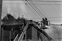 ARCHIVE -<br /> Incendie, 15 fevrier 1973<br /> <br /> Photo : Agence Quebec Presse  - Alain Renaud
