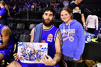 Tohi Smith-Milner of the Wellington Saints after the round one NBL match between the Wellington Saints and the Canterbury Rams at TSB Bank Arena, Wellington, New Zealand on Friday 30 April 2021.<br /> Photo by Masanori Udagawa. <br /> www.photowellington.photoshelter.com