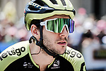 Simon Yates (GBR) Mitchelton-Scott at sign on before the start of Stage 16 of the 2019 Tour de France running 177km from Nimes to Nimes, France. 23rd July 2019.<br /> Picture: ASO/Pauline Ballet   Cyclefile<br /> All photos usage must carry mandatory copyright credit (© Cyclefile   ASO/Pauline Ballet)