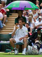 25-06-13, England, London,  AELTC, Wimbledon, Tennis, Wimbledon 2013, Day two, Florian Mayer (GER)<br /> <br /> <br /> <br /> Photo: Henk Koster