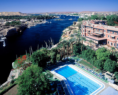 EGY, Aegypten, Assuan: das Old Cataract Hotel am Nil | EGY, Egypt, Assuan: the Old Cataract Hotel at rive Nile