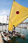 Race to Alaska, human powered, wind powered, all class, boat race, Port Townsend to Ketchikan, second leg, racers prepare at dock, Inner Harbor, Victoria, British Columbia, Canada, for Ketchikan, Alaska,