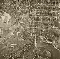 historical aerial photo map of Colorado Springs, El Paso County, Colorado, 1947
