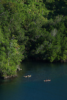 View of Canoes on McClaren Fjord, Tufi, Cape Nelson, Oro Province, Papua New Guinea
