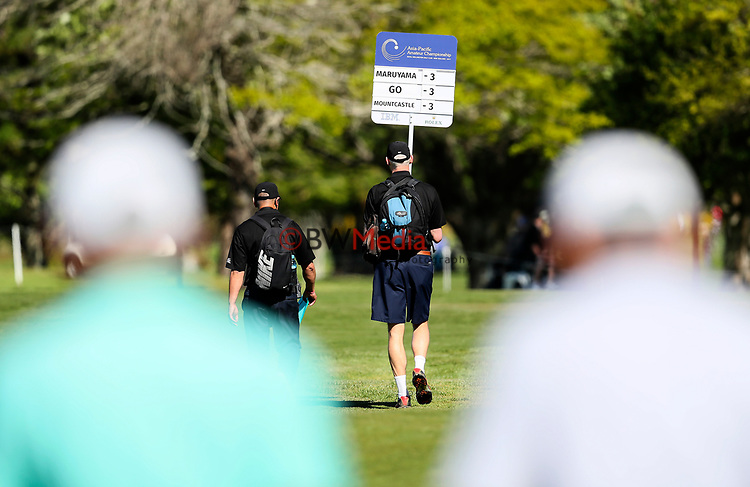 General View during the Asia Pacific Amateur Golf Championship Round Three, Royal Wellington Golf Course, Wellington, New Zealand, 28 October2017.  Photo: Simon Watts/www.bwmedia.co.nz