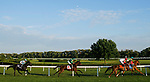 August 10, 2019 : The field in the first turn in the Pucker Up Stakes during Arlington Million Day at Arlington International Racecourse in Arlington Heights, Illinois. Cafe Americano, ridden by Irad Ortiz Jr., won the race. Jon Durr/Eclipse Sportswire/CSM