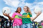 Saoirse Mulvihill (Ballybunion) and Hannah Ludgate (Ballyduff), enjoying the Kerry Team Open Day Meet and Greet, at Fitzgerald Stadium, Killarney on Saturday last.