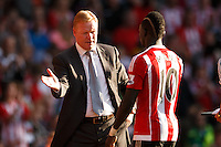 Southampton Manager Ronald Koeman  shakes hands with Sadio Mane during the Barclays Premier League match between Southampton v Swansea City played at St Mary's Stadium, Southampton