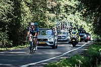 the breakaway trio consisting of: Hugo Houle (CAN/Astana - Premier Tech), Casper Pedersen (DEN/DSM) & Jack Bauer (NZL/BikeExchange)<br /> <br /> 17th Benelux Tour 2021<br /> Stage 5 from Riemst to Bilzen (BEL/192km)<br /> <br /> ©kramon