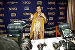Japanese comedian Pikotaro (Piko Taro) poses for the cameras at the Foreign Correspondents' Club of Japan on October 28, 2016, Tokyo, Japan. Pikotaro (real name Kazuhito Kosaka and also known by his stage name Daimaou Kosaka) received a certificate from Guinness World Record for his song ''PPAP'' for being the shortest song ever to enter the Billboard Hot 100. With over 130 million YouTube views, the song has inspired countless imitators uploading their original versions. Celebrities like the Canadian pop star Justin Bieber helped promote the song by sharing PPAP as his favorite video on the internet via his Twitter account. (Photo by Rodrigo Reyes Marin/AFLO)