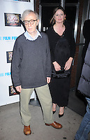 Woody Allen and Emily Mortimer attend a film screening of The Red Shoes at the Directors Guild of America Theater in New York City. November 3, 2009. Credit: Dennis Van Tine/MediaPunch