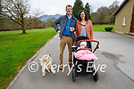 Enjoying a stroll in the Killarney National park on Sunday, l to r:  Mary O'Leary, Paige and Dean Ward with Poppy the dog.