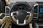 Car pictures of steering wheel view of a 2021 Ford F-250-Super-Duty Lariat 4 Door Pick-up Steering Wheel