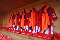 General view of shirts hanging in the home dugout - AFC Hornchurch vs Wingate & Finchley - Ryman League Premier Division Football at Hornchurch Stadium, Bridge Avenue, Upminster, Essex - 30/11/13 - MANDATORY CREDIT: Gavin Ellis/TGSPHOTO - Self billing applies where appropriate - 0845 094 6026 - contact@tgsphoto.co.uk - NO UNPAID USE