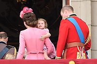 Princess Charlotte<br /> on the balcony of Buckingham Palace during Trooping the Colour on The Mall, London. <br /> <br /> <br /> ©Ash Knotek  D3283  17/06/2017