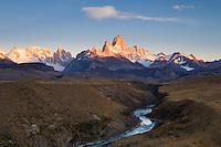 Sunrise at Fitz Roy, Los Glaciares National Park, Argentina