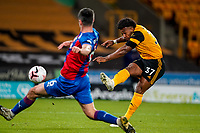 30th October 2020; Molineux Stadium, Wolverhampton, West Midlands, England; English Premier League Football, Wolverhampton Wanderers versus Crystal Palace; Adama Traoré of Wolverhampton Wanderers takes a shot at goal