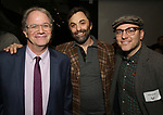 Douglas Aibel, Christopher Shinn and Peter Lerman attends the Vineyard Theatre Paula Vogel Playwriting Award honoring Jeremy O. Harris on October 12, 2018 at the National Arts Club in New York City.